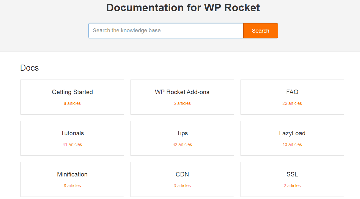 wp rocket docs